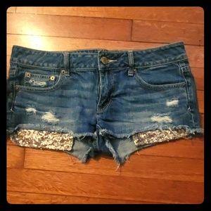 American eagle sequin pocket shorts